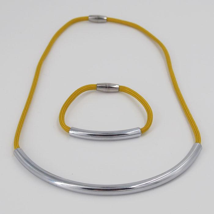 874daa3e1 Rope tmavo žltý / set náhrdelník a náramok - ArtAttack Shop