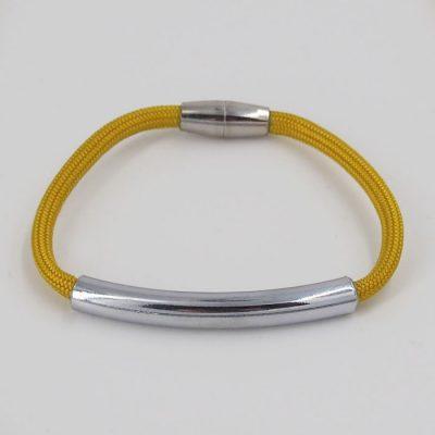 Rope tmavo žltý / set náhrdelník a náramok