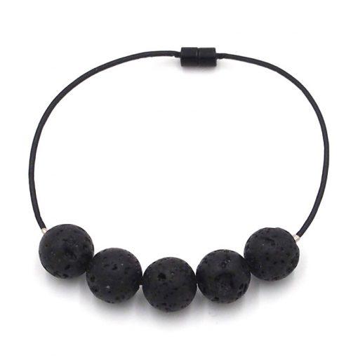 Lávový kameň - minerálny kameň / náramok