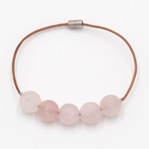 Ruženín - minerálny kameň / náramok