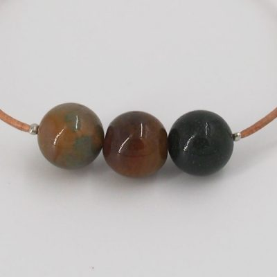 Achát - náramok s minerálnym kameňom