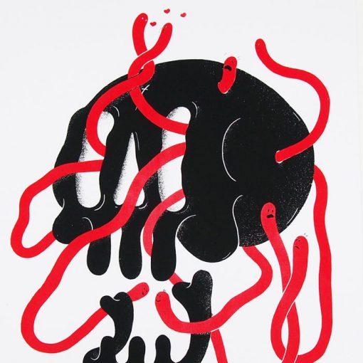 Lebky červené - Jozef Gľaba / grafika
