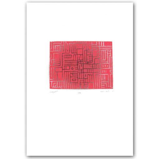 Labyrint #1 - Martin Malina / linorytová grafika