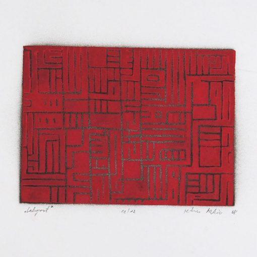 Labyrint #2 - Martin Malina / linorytová grafika