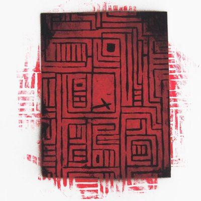 Labyrint #3 - Martin Malina / linorytová grafika