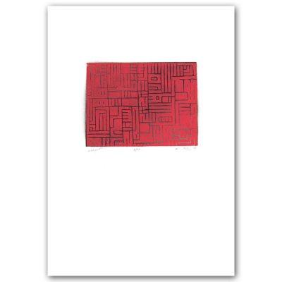 Labyrint #4 - Martin Malina / linorytová grafika