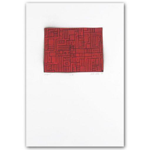 Labyrint #5 - Martin Malina / linorytová grafika