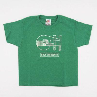 Logo Račianska Cvernovka zelené / detské tričko
