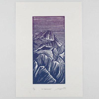 La Montanage - Martina Rötlingová / linorytová grafika