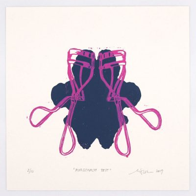 Rorschachov test #1 - Martina Rötlingová / linorytová grafika