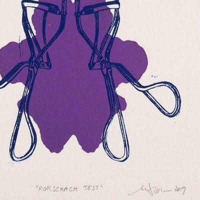 Rorschach test #2 - Martina Rötlingová / linorytová grafika