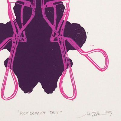 Rorschach test #3 - Martina Rötlingová / linorytová grafika