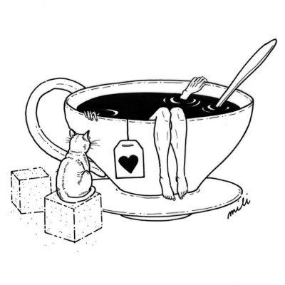 Tea a ja - Mili / grafika A4