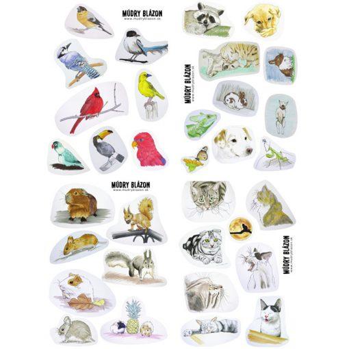 Zvieratká / nálepky