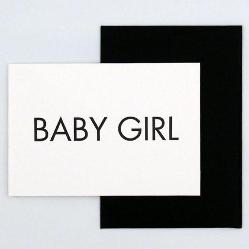 Baby Girl - Pressink Letterpress / pohľadnica