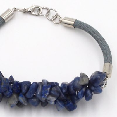 Chryzokol modrý - minerálny kameň+lano / náramok