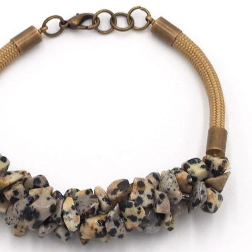 Dalmatínsky jaspis - minerálny kameň+lano / náramok