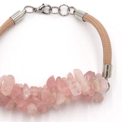 Ruženín - minerálny kameň+lano / náramok
