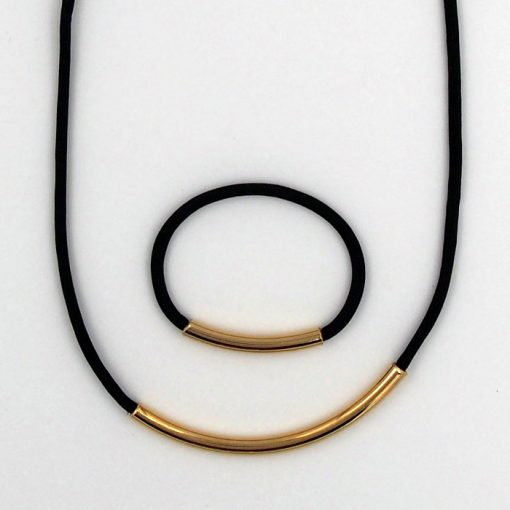 Rope čierny / set náhrdelník a náramok