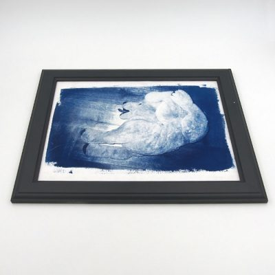 Medveď #1 - Šymon Kliman / grafika v ráme