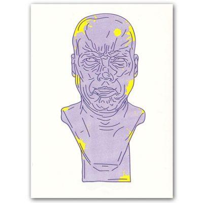 Messerschmidtova busta #3 - Hedviga Gutierrez / grafika