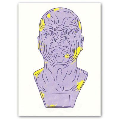 Messerschmidtova busta #4 - Hedviga Gutierrez / grafika