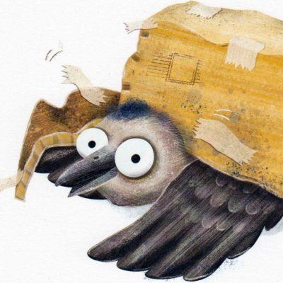 Ilustrácia z knihy Holub Lubo #2 - Hedviga Gutierrez / grafika