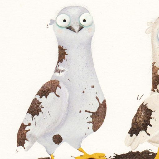 Ilustrácia z knihy Holub Lubo #4 - Hedviga Gutierrez / grafika