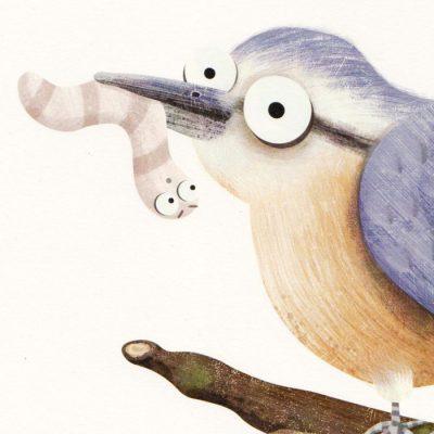 Ilustrácia z knihy Holub Lubo #5 - Hedviga Gutierrez / grafika