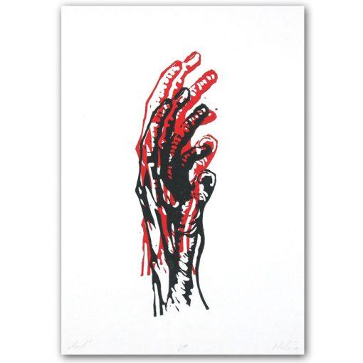 Hand #1 - Martin Malina / linorytová grafika