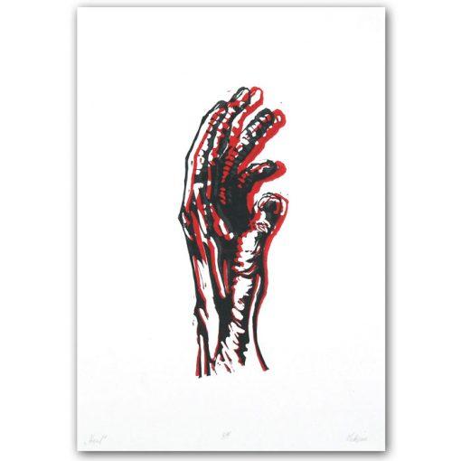 Hand #2 - Martin Malina / linorytová grafika