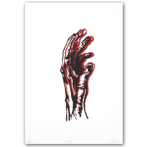 Hand #3 - Martin Malina / linorytová grafika