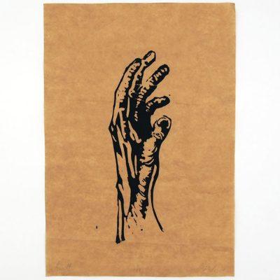Hand #7 - Martin Malina / linorytová grafika