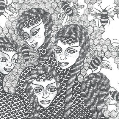 Honeybee Queens - K. Branišová - Abstraktné stavy / grafika