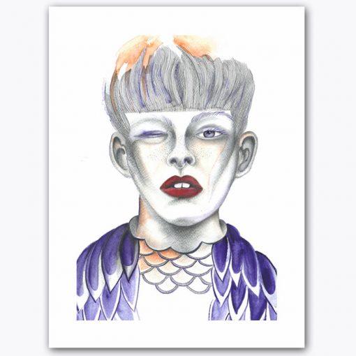 Owl My Eye - K. Branišová - Abstraktné stavy / grafika