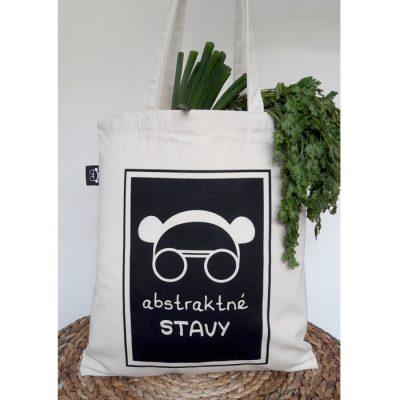 Tote Bag natural - Abstraktné stavy / plátená taška