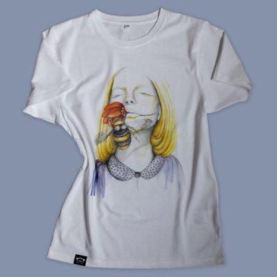 Dreaming biele - Abstraktné stavy / tričko
