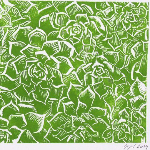 Kvety / linorytová grafika