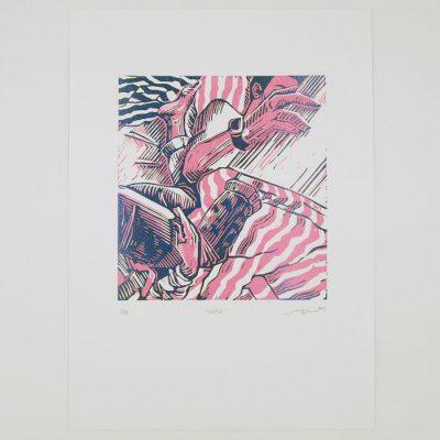 Couple - Martina Rötlingová / linorytová grafika