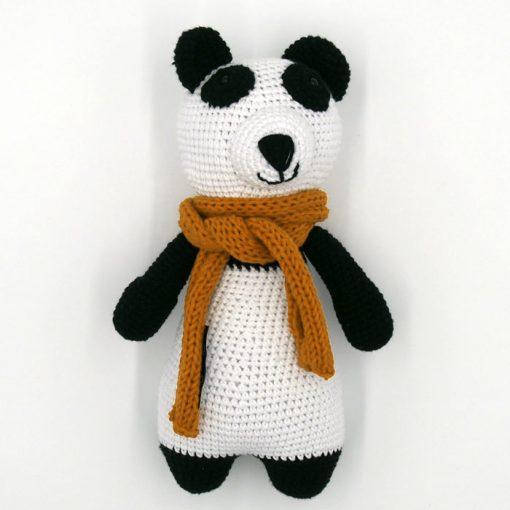 Háčkovaná detská hračka Panda / Pletka
