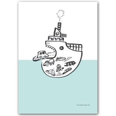 Loď - Cesta na svet / grafika