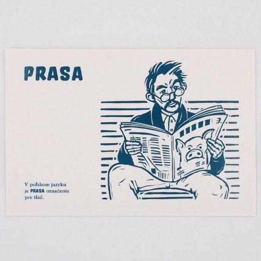 Prasa - City v city / pohľadnica