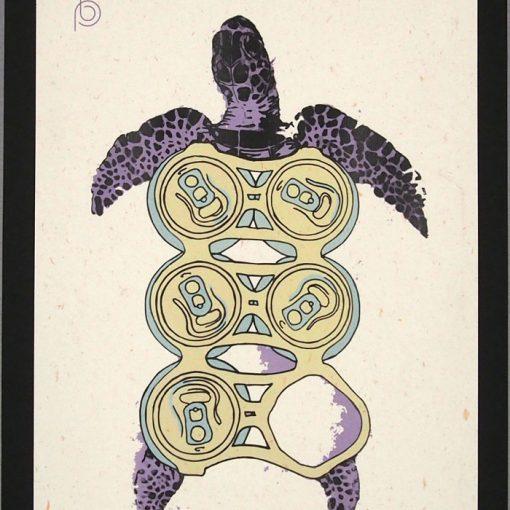 Korytnačka - Plody mora / grafika v ráme