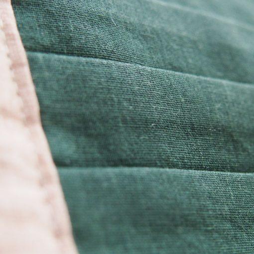 tmavo zelené bavlnené rúško na tvár