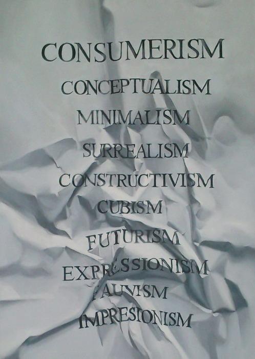 Pôvodná maľba Consumerism