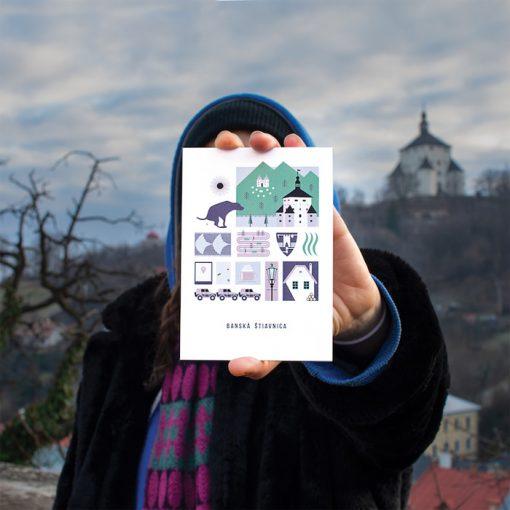 Banská Štiavnica, Mestečko - Teta Beta / pohľadnica