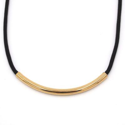 Rope čierny so zlatým / náhrdelník