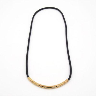 Rope tmavo sivý so zlatým / náhrdelník
