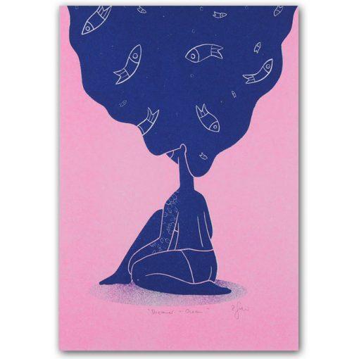 Dreamer - Ocean - Žužu Gálová / risografika