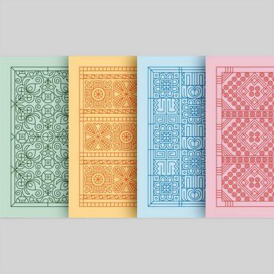 AHA Pohľadnice farebné / set 4ks